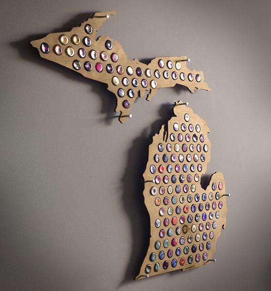 Beer Cap Maps Coowner Is A Michigan Native With A Love Of
