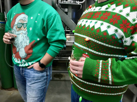 Ugly holiday sweater walking tour of downtown Kalamazoo breweries and distillery — Saturday, Dec. 21, 2019